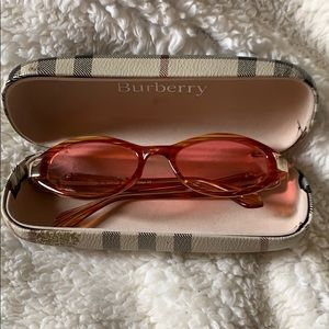Accessories - Vintage Burberry peach sun glasses
